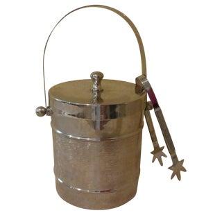 Chrome Ice Bucket With Tongs
