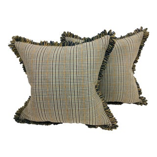 Transitional Ralph Lauren Tweed Pillows – a Pair For Sale