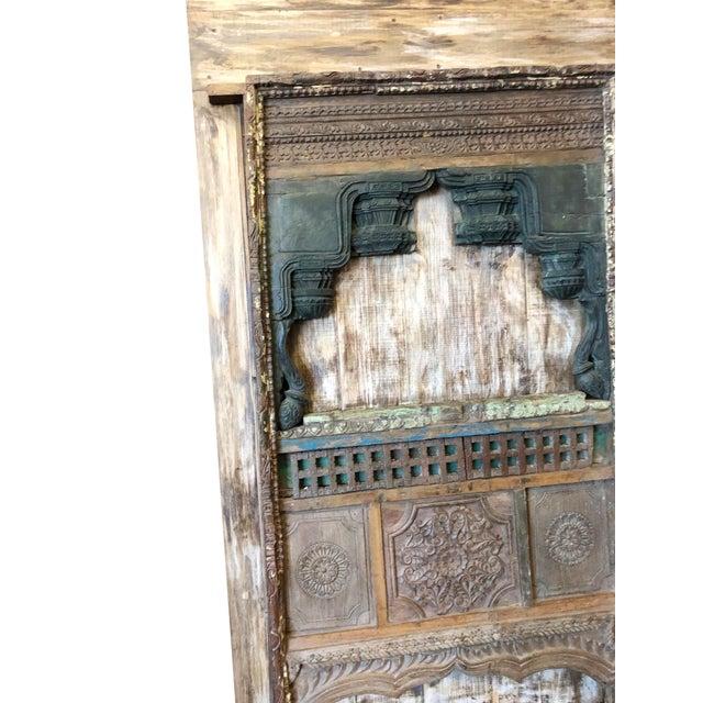 Mediterranean Antique Barn Door Farmhouse Wine Cellar Door Eclectic Rustic Art For Sale - Image 3 of 5