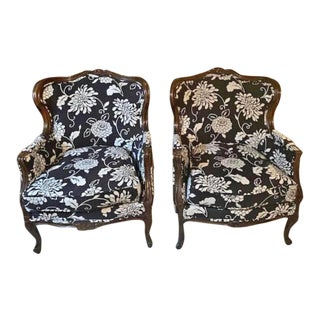 Vintage Recovered Chairs- A Pair For Sale