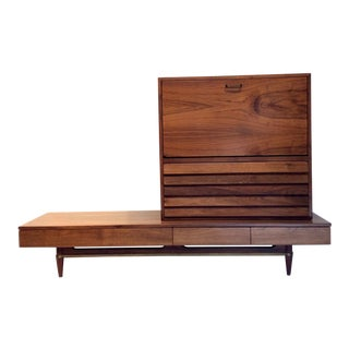 "Mid-Century Modern Merton Gershun for American of Martinsville ""Dania"" Secretary Set For Sale"