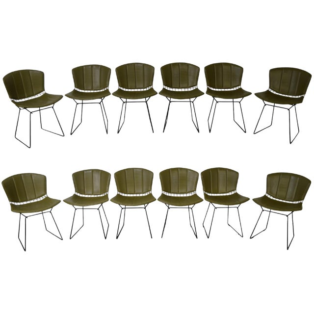 Bertoia for Knoll Mid Century Wire Side Dining Chairs - Set of 12 For Sale