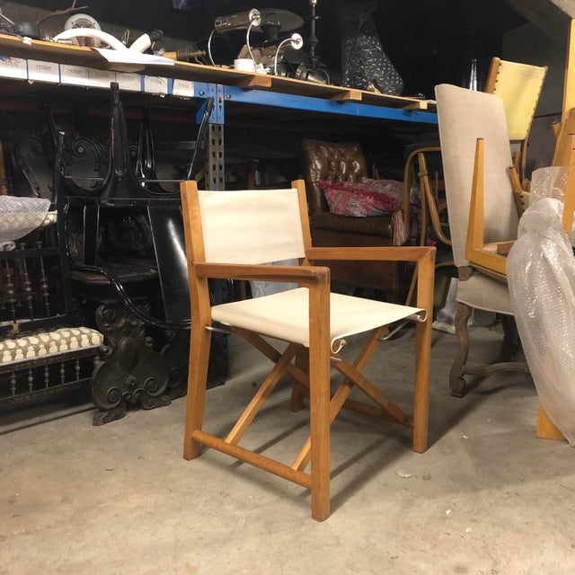 Foldable Teak Directors Chair For Sale - Image 11 of 11
