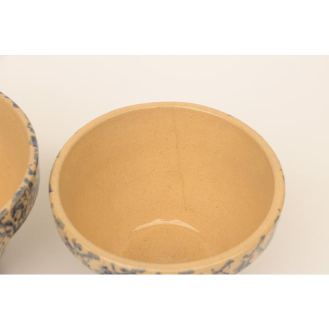 Ceramic Blue Spongeware Pottery Instant Collection - Set of 11 For Sale - Image 7 of 8