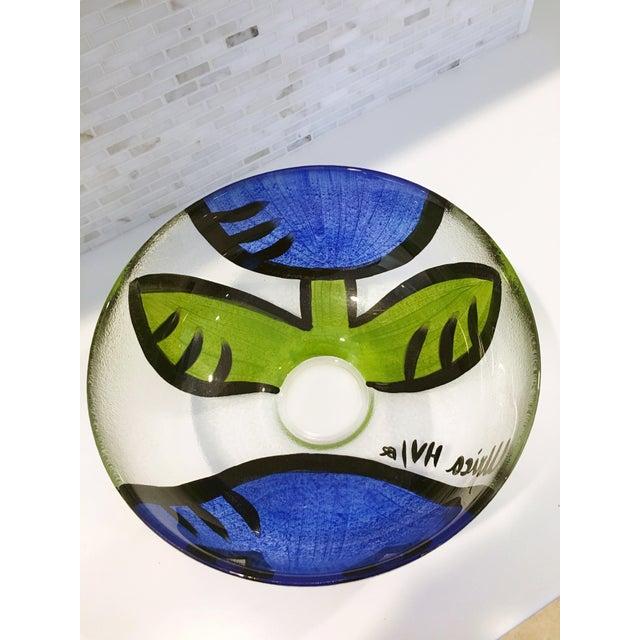 Ulrica Hydman Vallien Kosta Boda Glass Bowl - Image 3 of 6