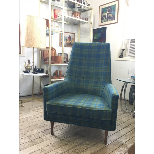Paul McCobb Paul McCobb Symmetric Group Plaid Chair For Sale - Image 4 of 5