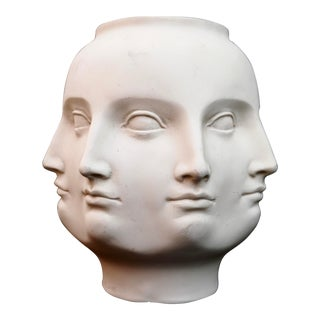 Original Tms 2005 Vitruvian Fornasetti Style Perpetual Face Vase Dora Maar Head Planter For Sale