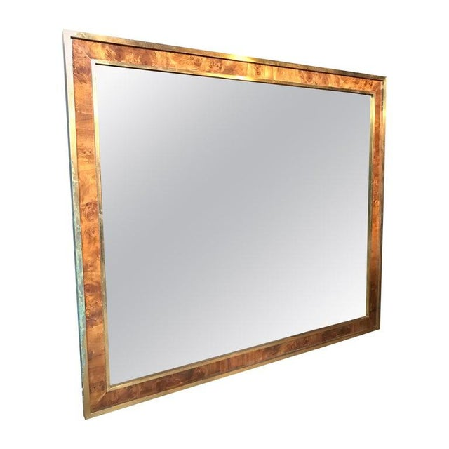 Tommaso Barbi Attributed Oversized Modern Brass Wall Mirror, Italy, 1970s For Sale - Image 9 of 9