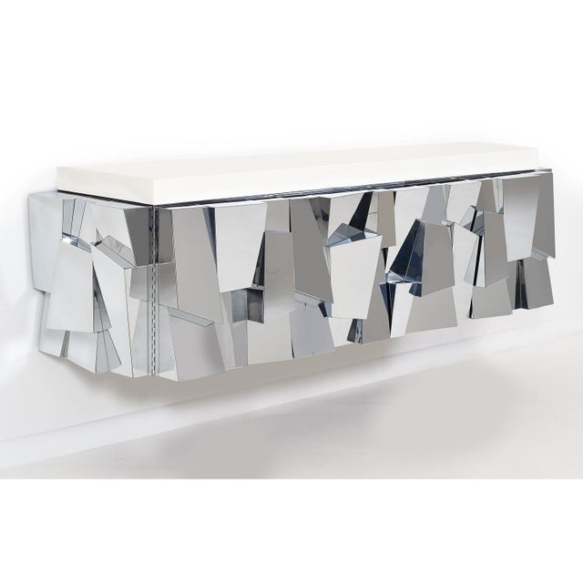 Directional Paul Evans Cityscape ii Faceted Console, model PE370, 1973 For Sale - Image 4 of 8