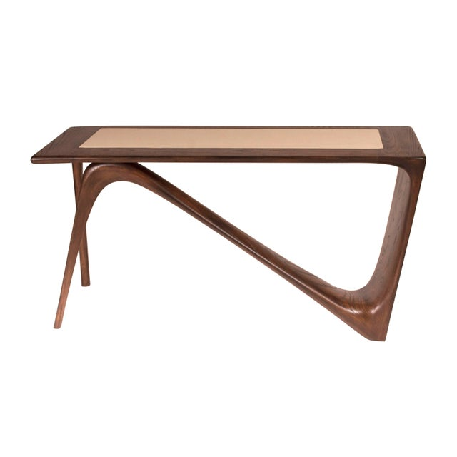 Contemporary Amorph Astra Desk, Rectangular Shape, Graphite Walnut Finish For Sale - Image 3 of 9