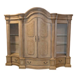 Large Four Section Tuscan Style Wall Unit For Sale