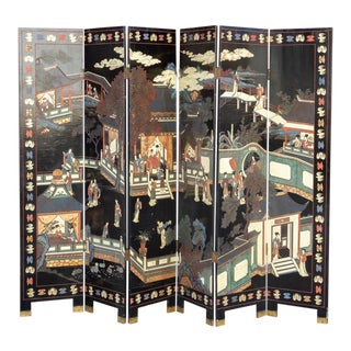 Antique Chinese Coromandel Screen For Sale