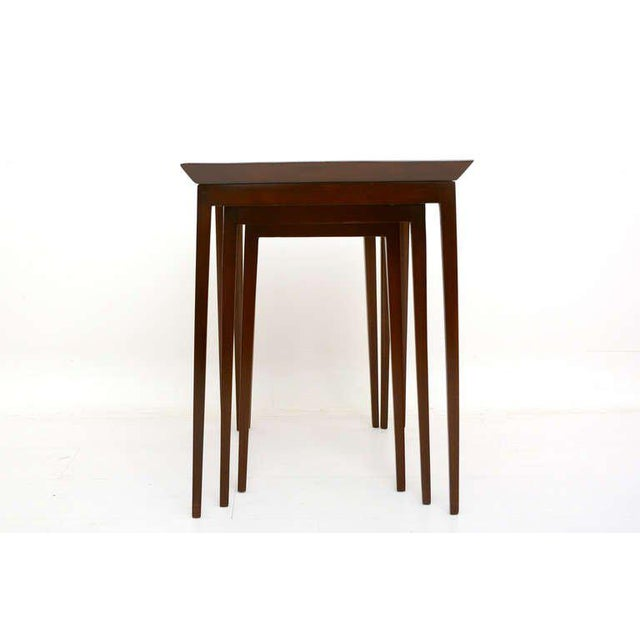 Contemporary Widdicomb Set of Nesting Mahogany Tables For Sale - Image 3 of 6