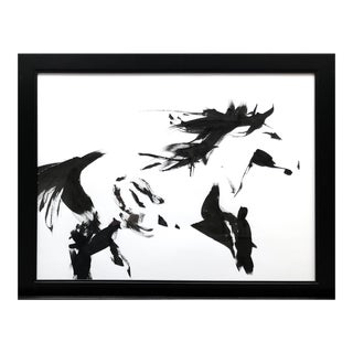 "Contemporary Ink Painting ""Wild 3"", Wild Horses Series, by James Repton For Sale"