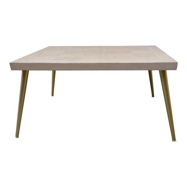Lane Parquet-Top Coffee Table - Image 1 of 8