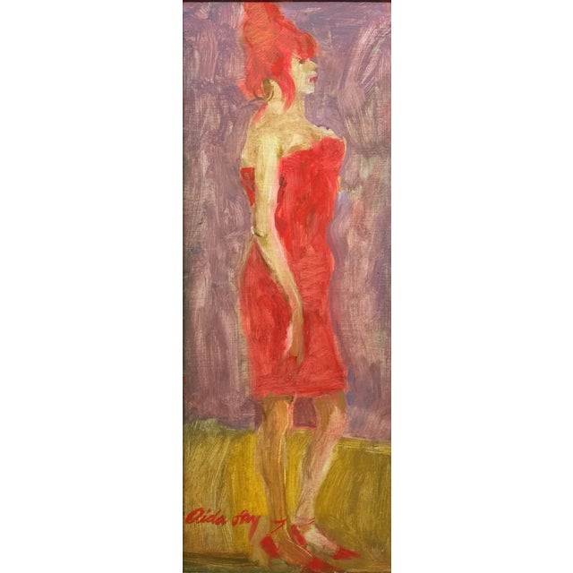 "Red Fry Contemporary Figure Painting ""Beehive"" For Sale - Image 8 of 8"