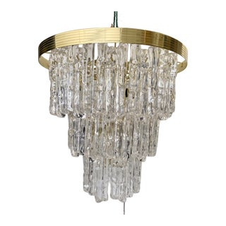Vintage Lucite Icicle Chandelier For Sale
