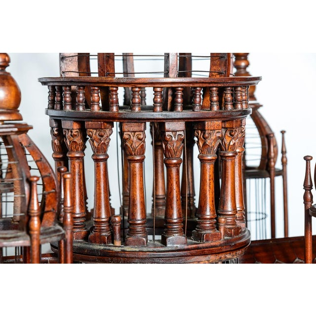 Wood Architectural Bird Cage For Sale - Image 7 of 12