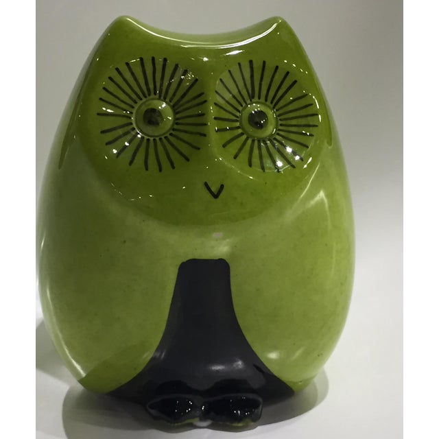 1960's Italian Pottery Owl. No chips at all. Excellent condition