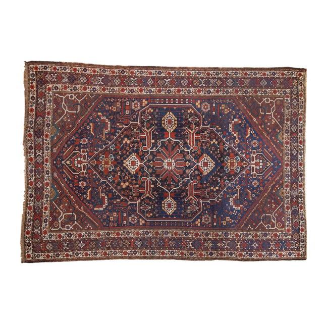 "Vintage Shiraz Carpet - 7'3"" X 10'2"" For Sale - Image 13 of 13"