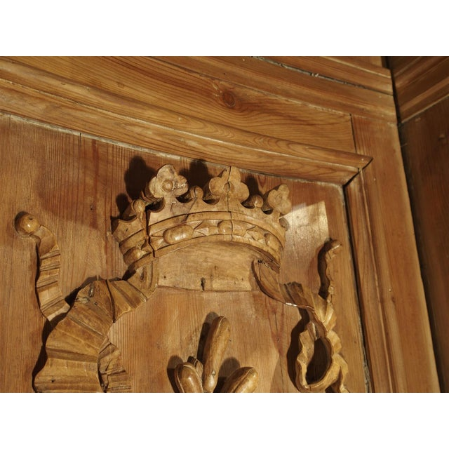 A Large and Unique Antique French Boiserie Section with Covered Alcove, 17th Century Elements For Sale - Image 9 of 11