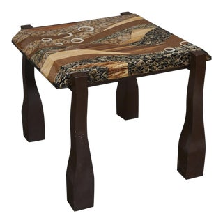 "1990s Contemporary ""Vienna"" Side or End Table With Exotic Inlay For Sale"