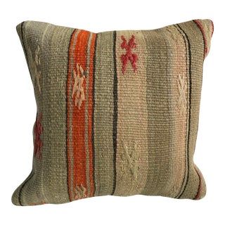 1970s Vintage Ethnic Turkish Handmade Designer Vintage Kilim Pillow Case For Sale