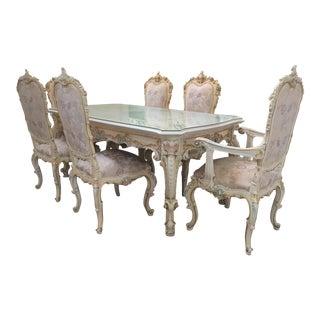 Silik Italian Baroque & Rococo Dining Set - Set of 7