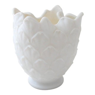 Imperial Frosted Glass Petal Vase