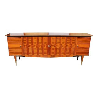 1940s Art Deco Exotic Macassar Ebony Sideboard / Buffet For Sale