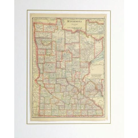 Vintage Map of Minnesota, 1916 - Image 3 of 3