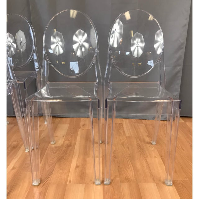 "Contemporary Philippe Stark for Kartell ""Victoria Ghost"" Chairs - Set of 6 For Sale - Image 3 of 8"