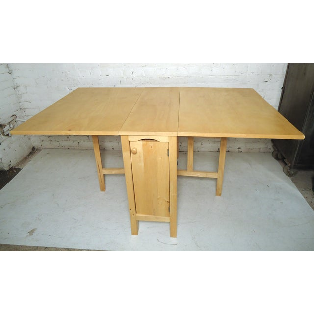 1960s Mid-Century Modern Drop Leaf Table For Sale - Image 5 of 9