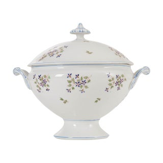French Old Paris Porcelain 'Cornflower' Pattern Tureen For Sale
