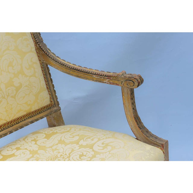 Pair of Early 19th Century Louis XVI Fauteuils For Sale In West Palm - Image 6 of 10