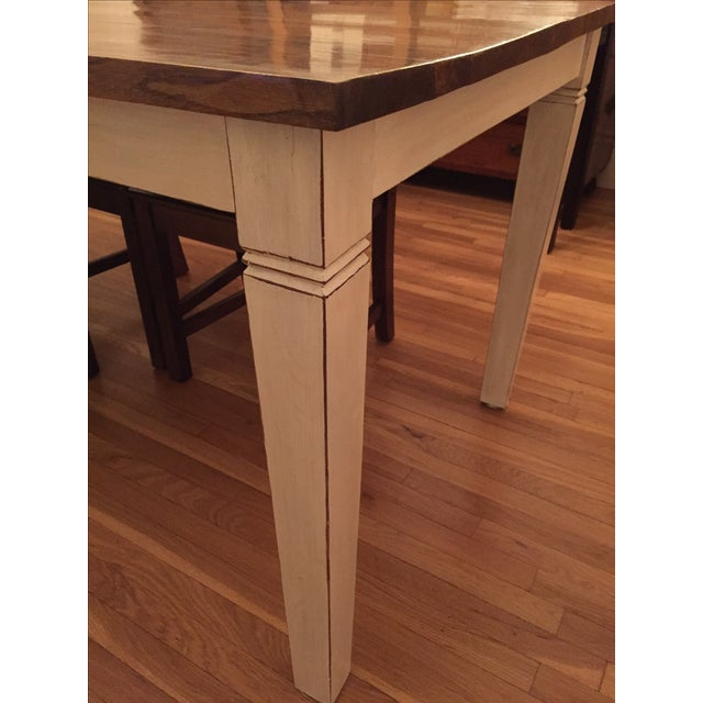 Antiqued Farmhouse Dining Table - Image 4 of 8