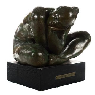 "Francisco Zuniga ""Mujer Agachada"" Bronze Sculpture For Sale"
