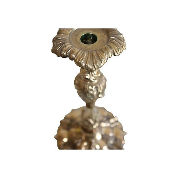 Ornate Brass Candleholders - A Pair - Image 2 of 3