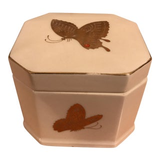 Gold Butterflies Trinket Box