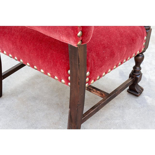 Late 19th Century American Empire Style Armchair in Mahogany, Circa 1890 For Sale - Image 5 of 10