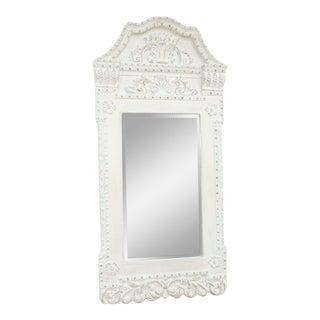 Architectural White Mirror For Sale