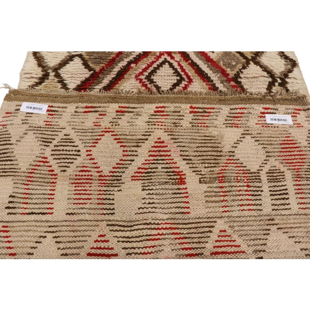 Textile Moroccan Berber Azilal Rug With Tribal Style - 3′ × 6′7″ For Sale - Image 7 of 9