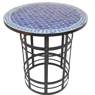 Hand Crafted Mosaic Bar Table For Sale