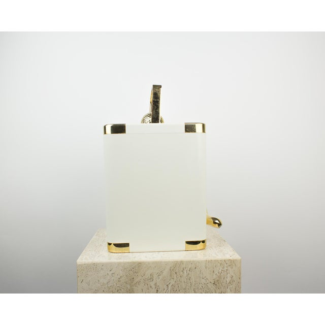 Art Deco Vintage White and 24k Gold Turnwald Collection Golf Ice Bucket For Sale - Image 3 of 11