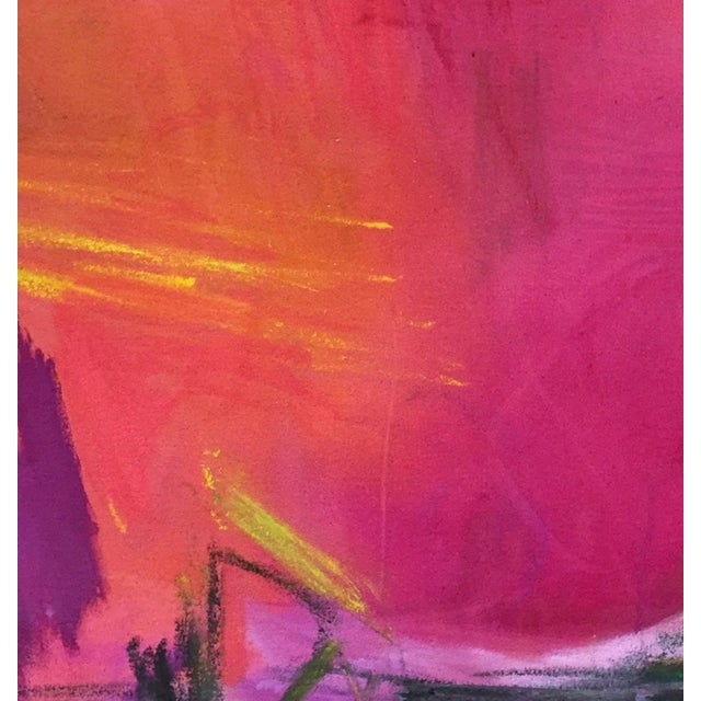 """Large Abstract Painting by Trixie Pitts """"High Road"""" - Image 2 of 6"""