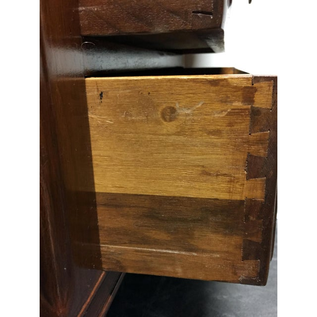 Vintage Solid Walnut Executive Desk by Doten-Dunton For Sale - Image 11 of 11
