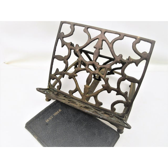 Adjustable Brass Easel Stand - Image 9 of 9