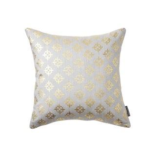 Valbonne Grey Hand Woven Silk Pillow For Sale