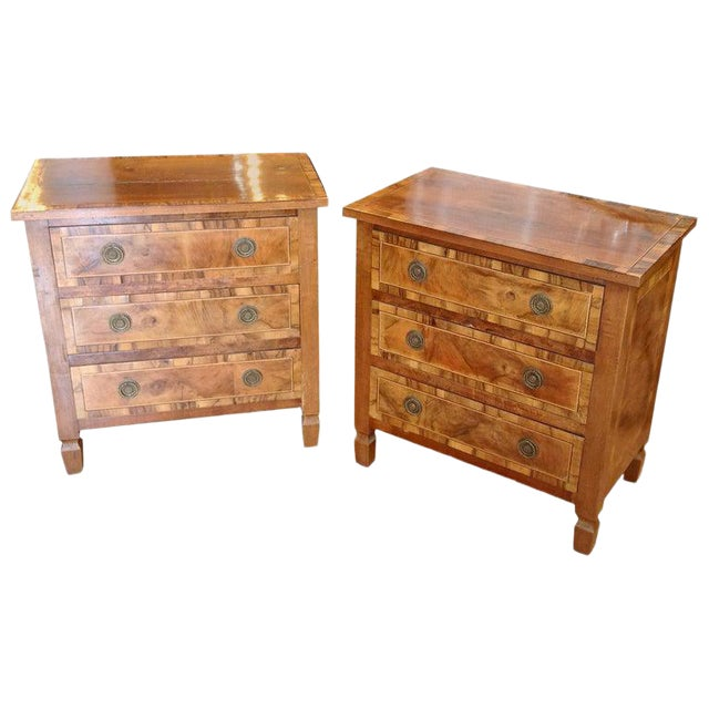 Pair of Italian Chair Side Chests For Sale