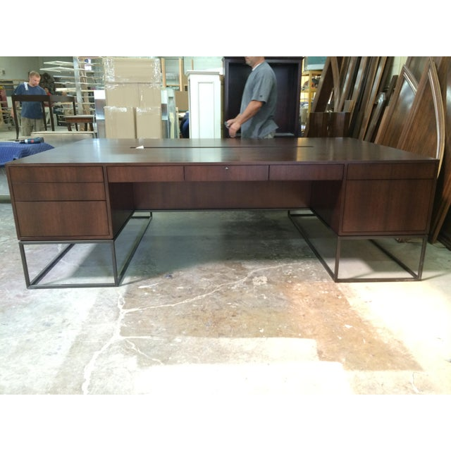 Modern Maxine Snider Inc. Library Partner's Desk For Sale - Image 3 of 5